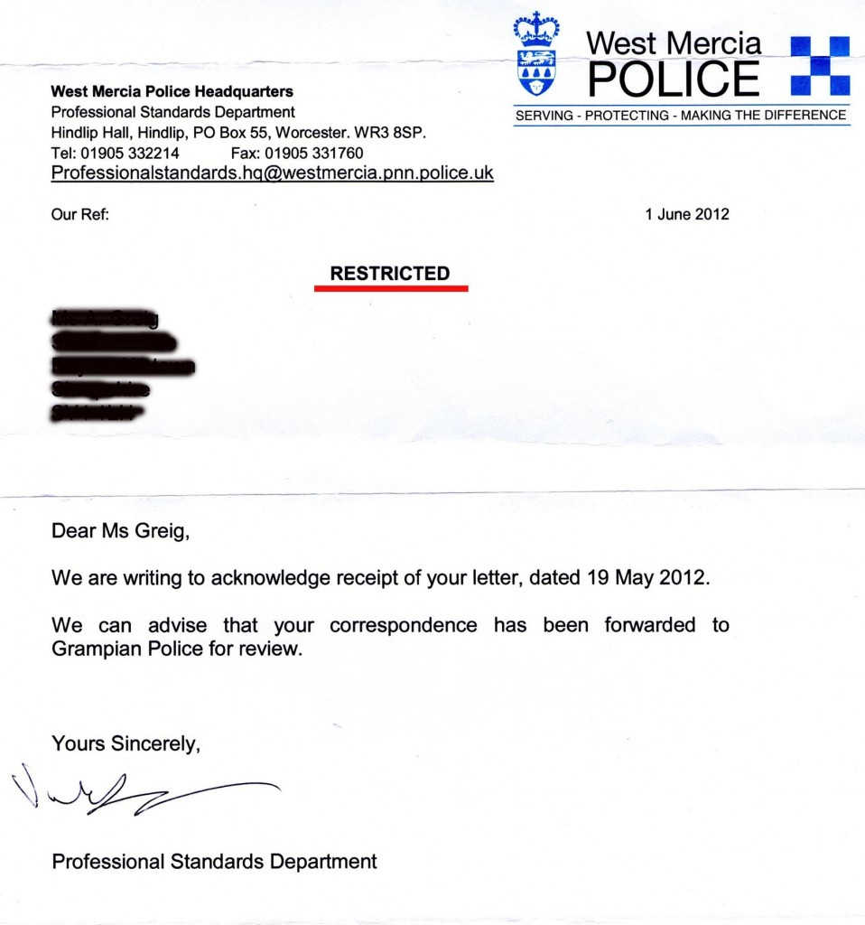 From Chief Constable 1-6-12